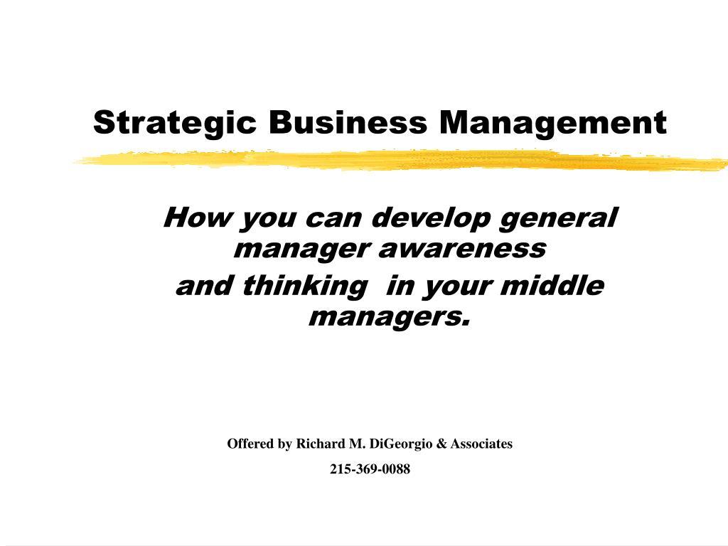 PPT - Strategic Business Management PowerPoint Presentation - ID:179558