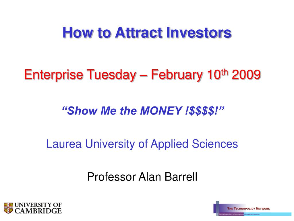 how to attract investors l.