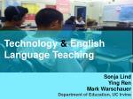 Technology  & English Language Teaching