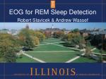 EOG for REM Sleep Detection