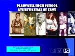 Plainwell High School Athletic Hall of Fame