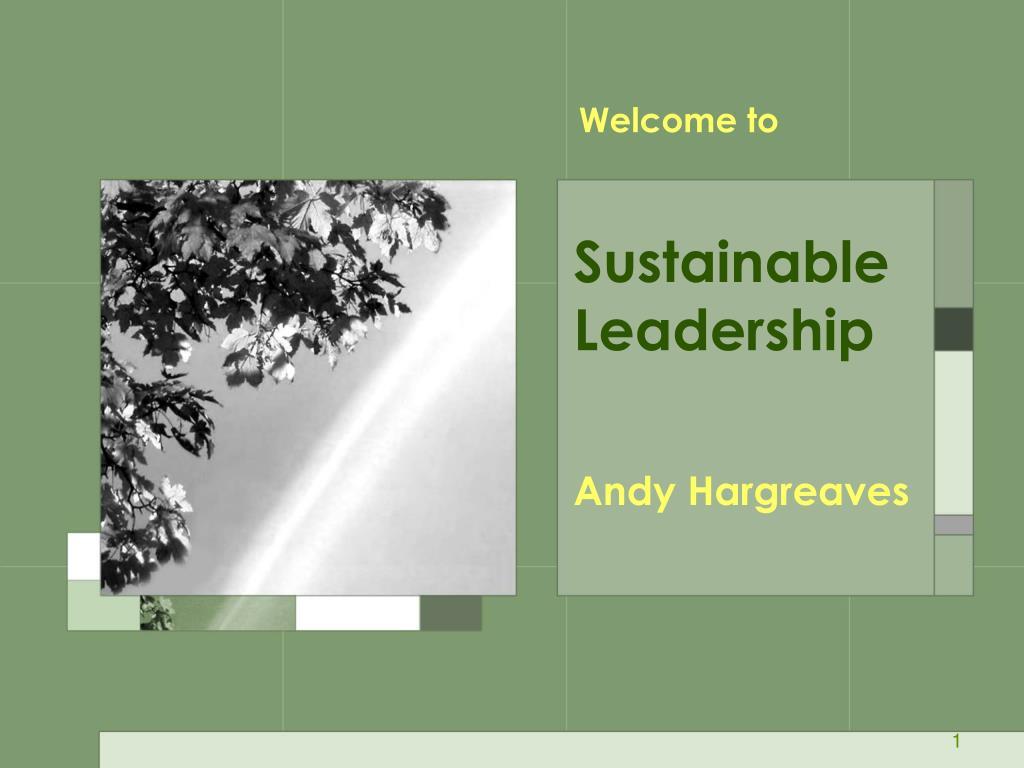 sustainable leadership l.