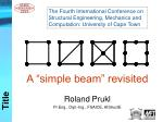 The Fourth International Conference on Structural Engineering, Mechanics and Computation: University of Cape Town