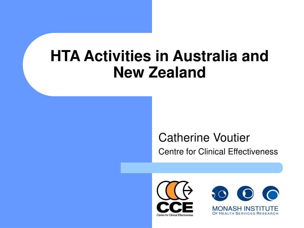 hta activities in australia and new zealand l.