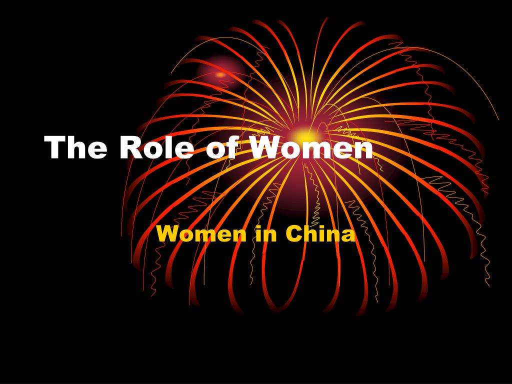 the role of women l.