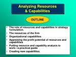 Analyzing Resources  & Capabilities