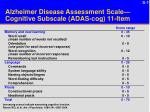 Alzheimer Disease Assessment Scale—Cognitive Subscale (ADAS-cog) 11-Item