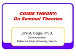 COMM THEORY: On Seminal Theories