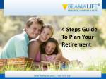 4 Steps Guide To Plan Your Retirement