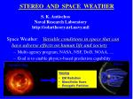 STEREO  AND  SPACE  WEATHER