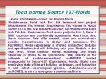 Tech homes,Tech homes Noida,Tech homes Sector 137-Noida,Tech