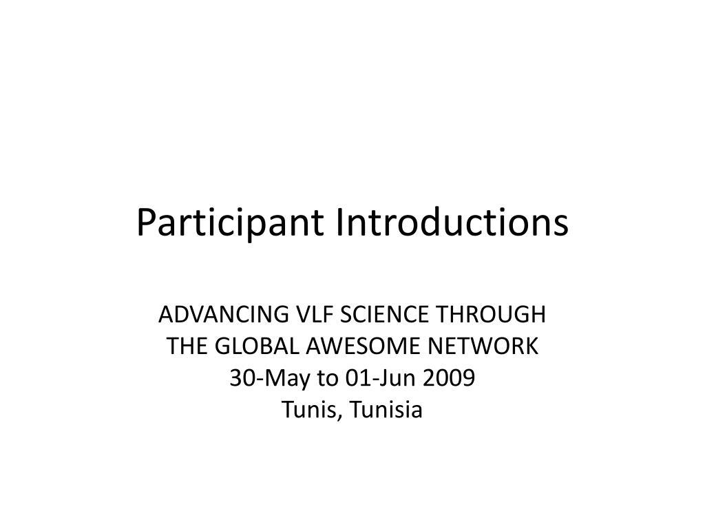 participant introductions l.