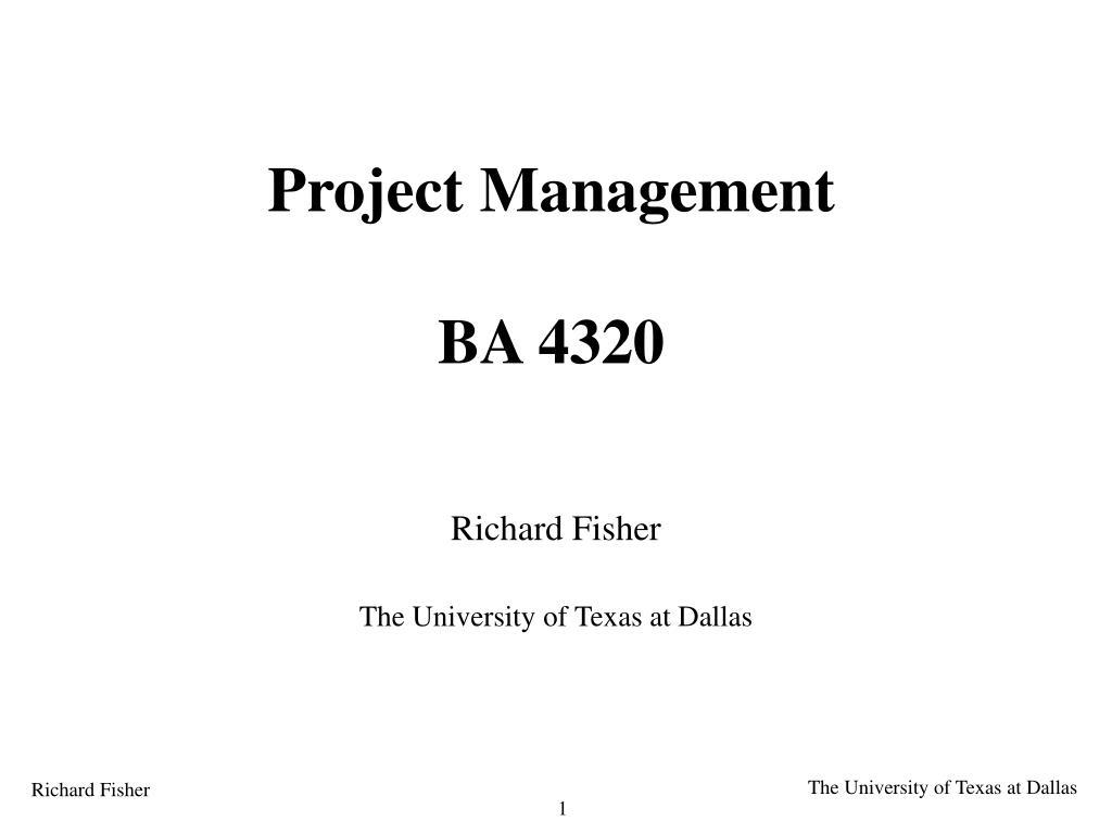 project management ba 4320 l.