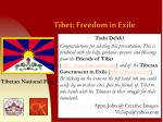 Tibet: Freedom in Exile