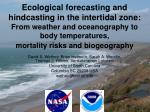 Ecological forecasting and hindcasting in the intertidal zone: From weather and oceanography to body temperatures, mor