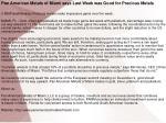 Pan American Metals of Miami says Last Week was Good for Pre