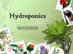 Hydroponics Department Technological Studies  High Point Regional High School