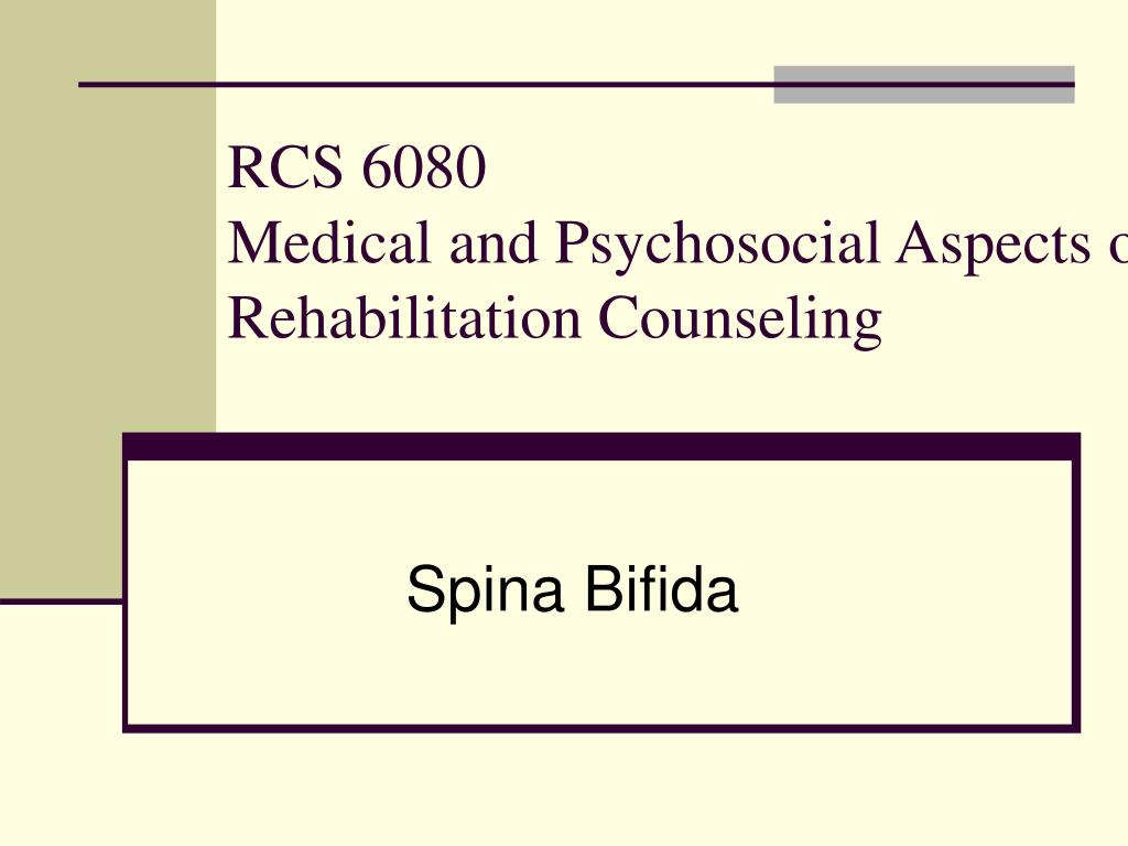 rcs 6080 medical and psychosocial aspects of rehabilitation counseling l.