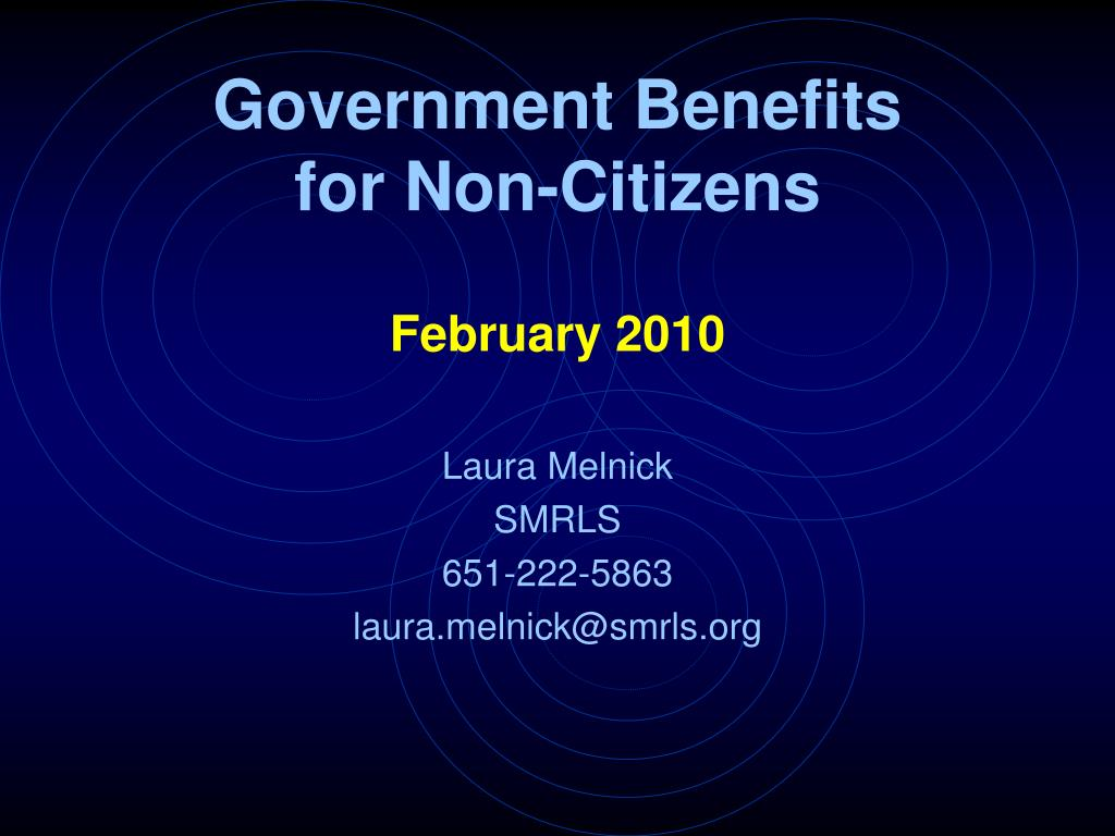 government benefits for non citizens l.