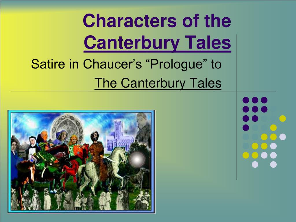 characters of the canterbury tales l.