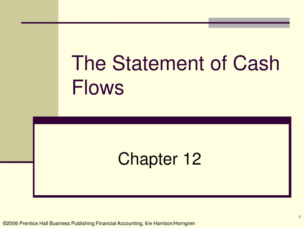 the statement of cash flows l.