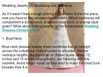 Wedding Jewelry - 5 Necklaces and Necklines