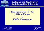 Evaluation and Regulation of Medicines & Health Products