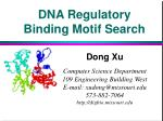 DNA Regulatory Binding Motif Search