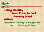 Eating Healthy from Farm to Fork … Promoting School Wellness