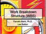 Work Breakdown Structure (WBS)