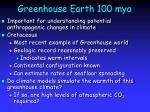 Greenhouse Earth 100 mya