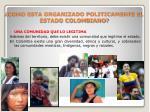 ¿COMO ESTA ORGANIZADO POLITICAMENTE EL ESTADO COLOMBIANO?