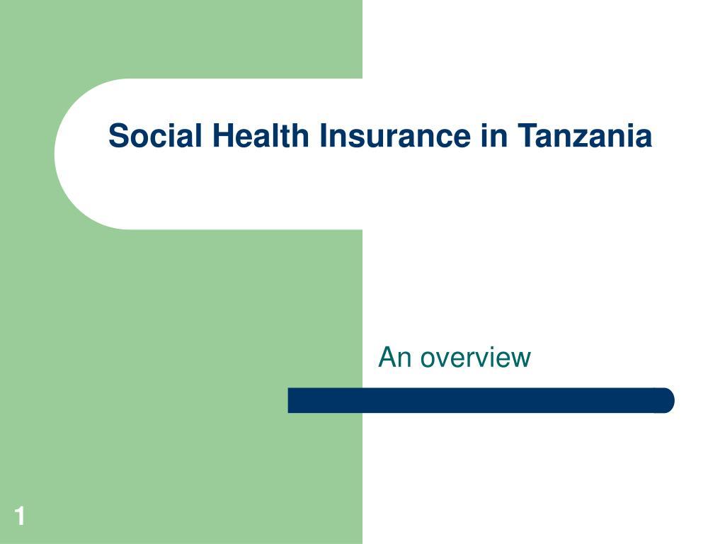 social health insurance in tanzania l.