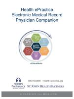 Health ePractice Electronic Medical Record Physician Companion
