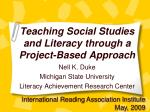Teaching Social Studies and Literacy through a Project-Based Approach