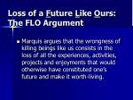 Loss of a F uture L ike O urs: The FLO Argument
