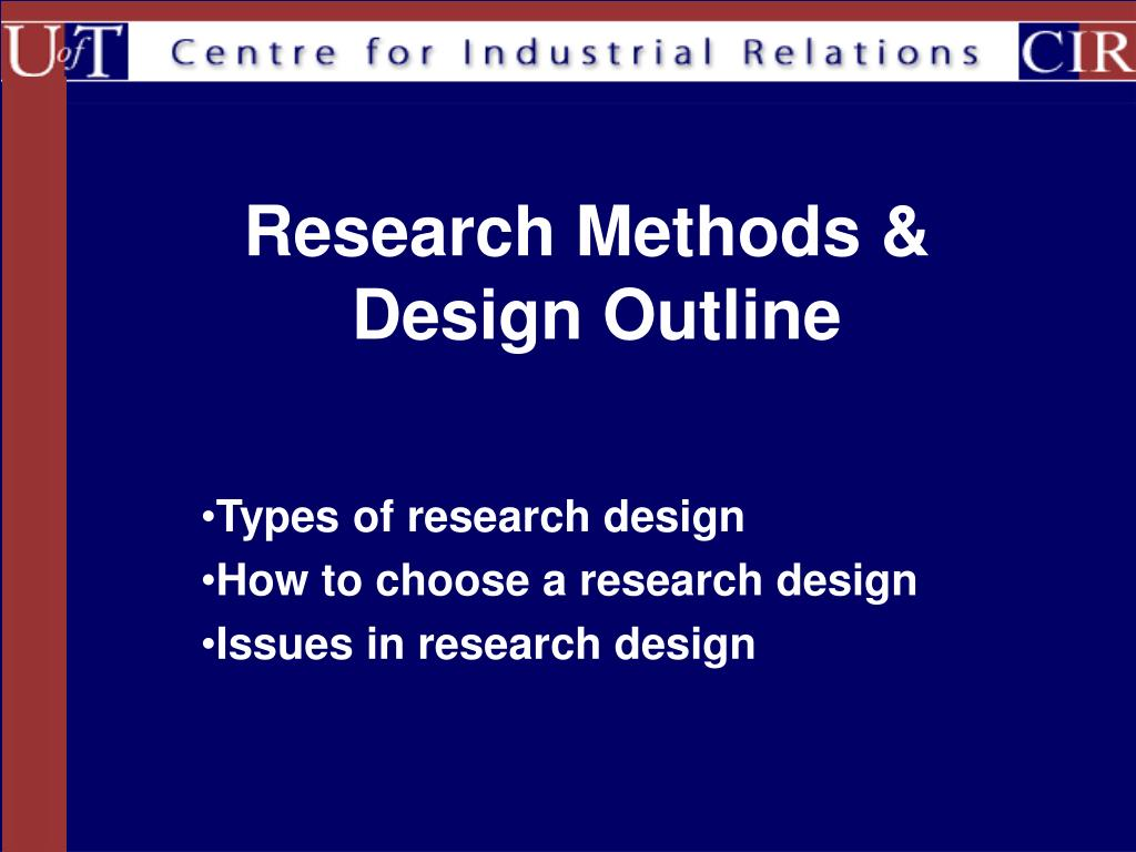 research methods design outline l.