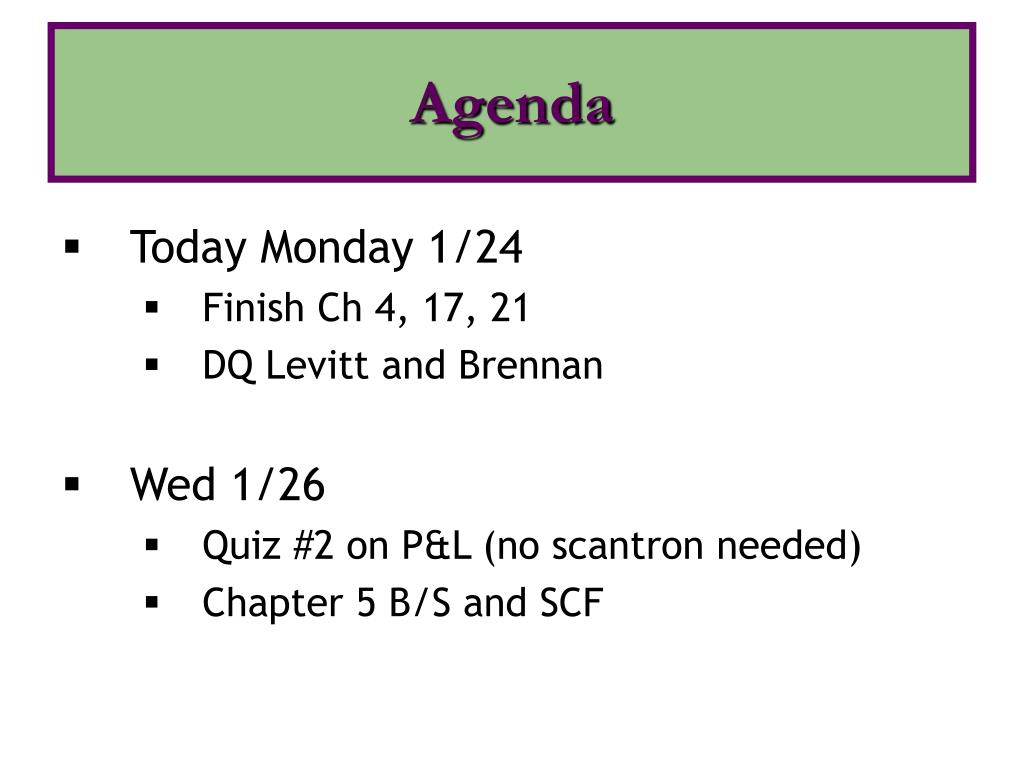 agenda l.
