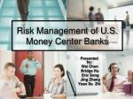 Risk Management of U.S. Money Center Banks