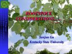 ROOTSTOCK CONSIDERATIONS... ...
