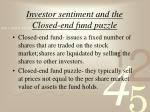 Investor sentiment and the Closed-end fund puzzle