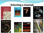 Selecting a Journal
