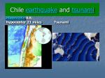 Chile earthquake and tsunami