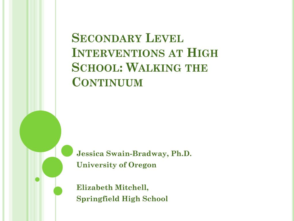 secondary level interventions at high school walking the continuum l.