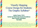 Visually Mapping Course Design for Students: The Graphic Syllabus *