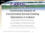 Community Impacts of Concentrated Animal Feeding Operations in Indiana