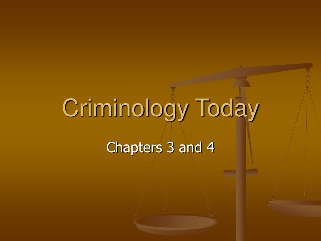 criminology today l.