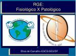RGE: Fisiológico X Patológico