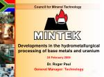 Council for Mineral Technology
