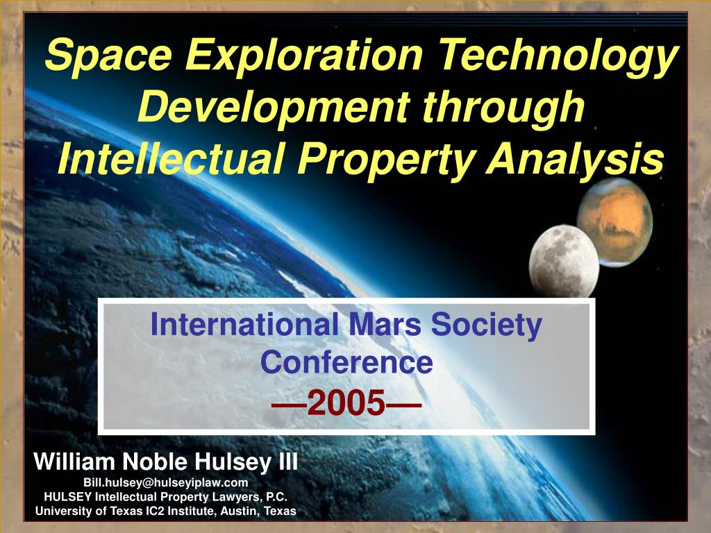 space exploration technology development through intellectual property analysis l.